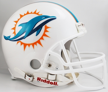 Miami Dolphins Riddell Full Size Authentic Helmet