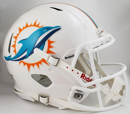 Miami Dolphins Riddell Full Size Authentic Revolution Helmet