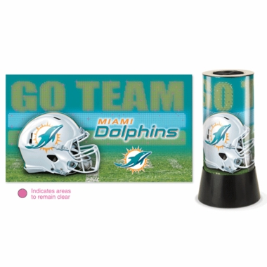 Miami Dolphins Rotating Lamp
