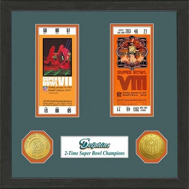 Miami Dolphins Miami Dolphins SB Championship Ticket Collection
