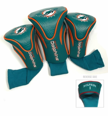 Miami Dolphins Set of Three Contour Headcovers