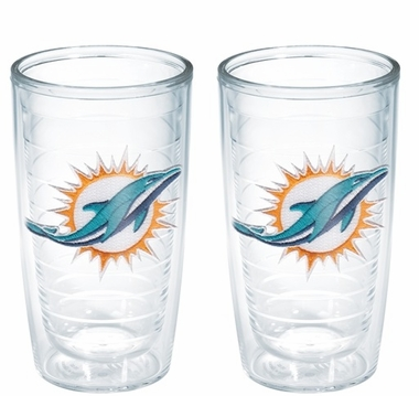 Miami Dolphins Set of TWO 16 oz. Tervis Tumblers