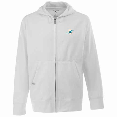 Miami Dolphins Mens Signature Full Zip Hooded Sweatshirt (Alternate Color: White)