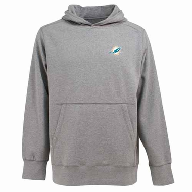 Miami Dolphins Mens Signature Hooded Sweatshirt (Color: Gray)