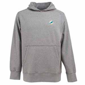 Miami Dolphins Mens Signature Hooded Sweatshirt (Color: Gray) - Small