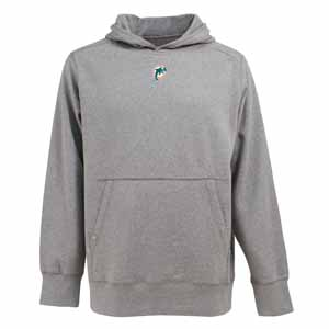 Miami Dolphins Mens Signature Hooded Sweatshirt (Color: Gray) - XXX-Large
