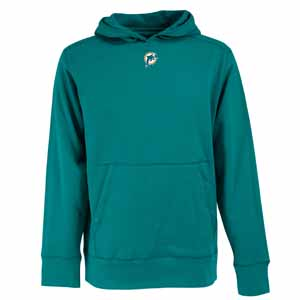 Miami Dolphins Mens Signature Hooded Sweatshirt (Team Color: Orange) - XXX-Large