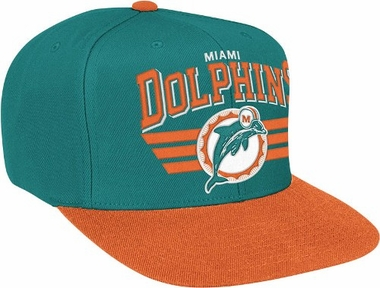 Miami Dolphins Stadium Throwback Snapback Hat