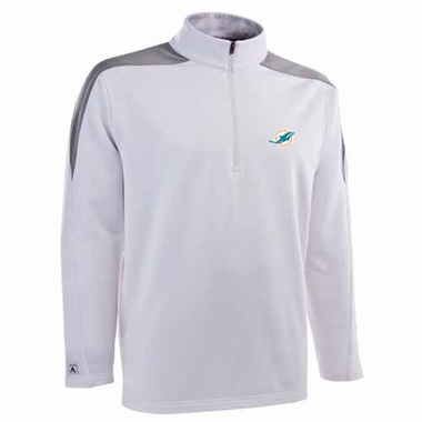 Miami Dolphins Mens Succeed 1/4 Zip Performance Pullover (Team Color: White)
