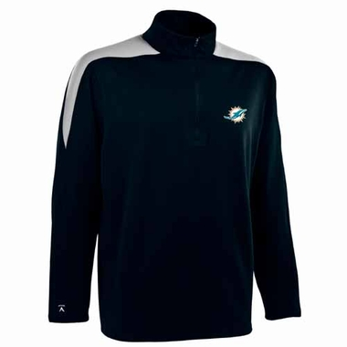 Miami Dolphins Mens Succeed 1/4 Zip Performance Pullover (Color: Smoke)