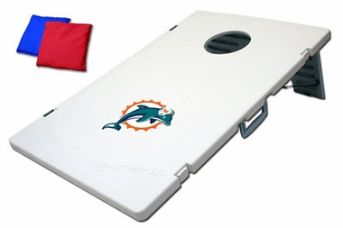 Miami Dolphins Tailgate Toss 2.0 Cornhole Beanbag Game