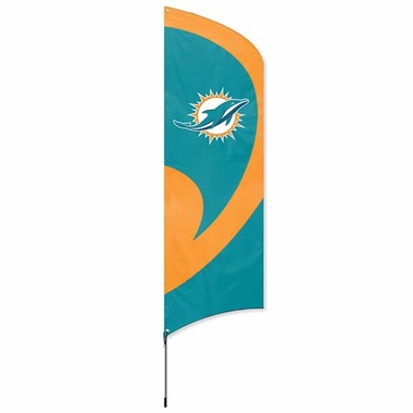Miami Dolphins Tall Team Flag