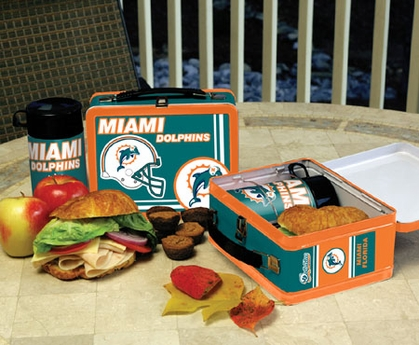 Miami Dolphins Tin Lunch Box