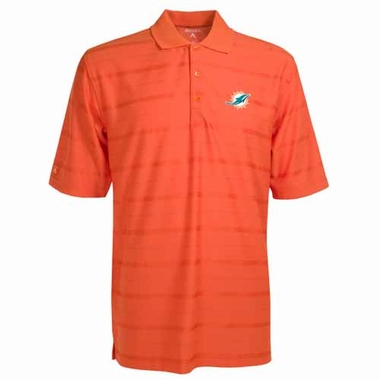 Miami Dolphins Mens Tonal Polo (Team Color: Orange)