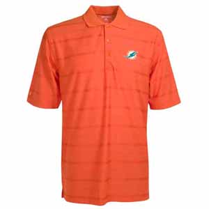 Miami Dolphins Mens Tonal Polo (Team Color: Orange) - Large
