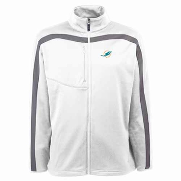 Miami Dolphins Mens Viper Full Zip Performance Jacket (Team Color: White)