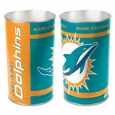 "Miami Dolphins 15"" Waste Basket"
