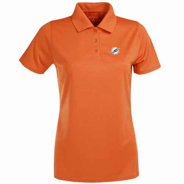 Miami Dolphins Womens Exceed Polo (Team Color: Orange)