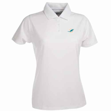 Miami Dolphins Womens Exceed Polo (Color: White)