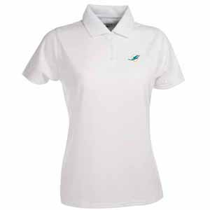 Miami Dolphins Womens Exceed Polo (Color: White) - Medium