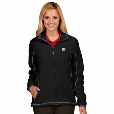 Miami Dolphins Womens Ice Polar Fleece Jacket (Team Color: Black)