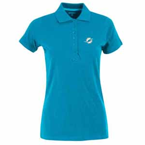 Miami Dolphins Womens Spark Polo (Team Color: Aqua) - Medium