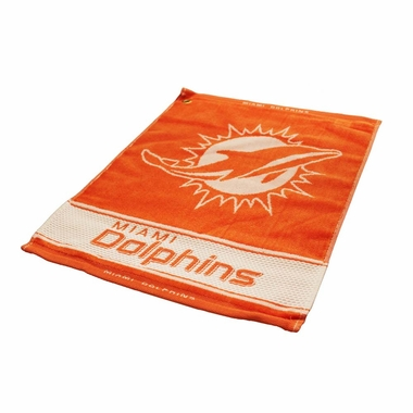Miami Dolphins Woven Golf Towel