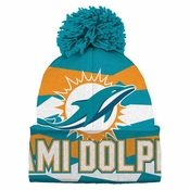 Men's Miami Dolphins Majestic Aqua Cutting Through Cool Base Synthetic Long Sleeve T-Shirt
