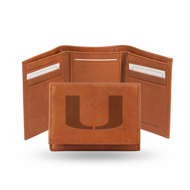 Miami Embossed Leather Trifold Wallet