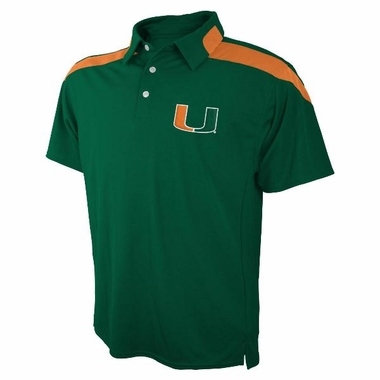 Miami Embroidered Logo Polyester Polo Shirt