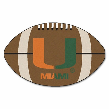Miami Football Shaped Rug
