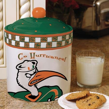 Miami Gameday Ceramic Cookie Jar