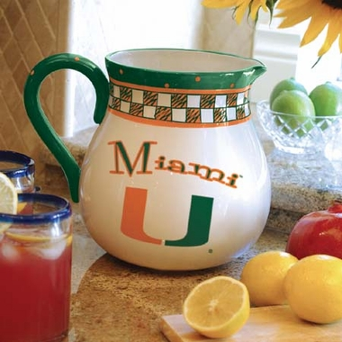 Miami Gameday Ceramic Pitcher