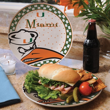 Miami Gameday Ceramic Plate