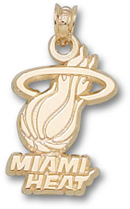 Miami Heat 10K Gold Pendant