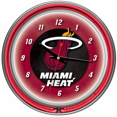 Miami Heat 14 Inch Neon Clock