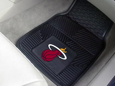 Miami Heat 2 Piece Heavy Duty Vinyl Car Mats