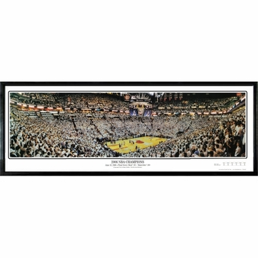 Miami Heat 2006 NBA Champions Framed Panoramic Print