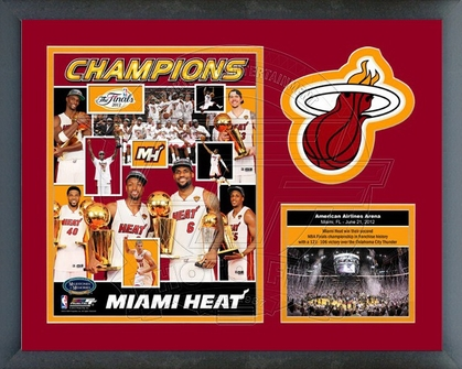 Miami Heat 2012 Finals Champions Framed Milestones & Memories