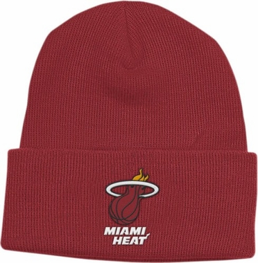 Miami Heat Basic Logo Cuffed Knit Hat