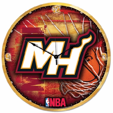 Miami Heat Big 18 Inch Hi Definition Clock