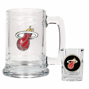 Miami Heat Boilermaker Set
