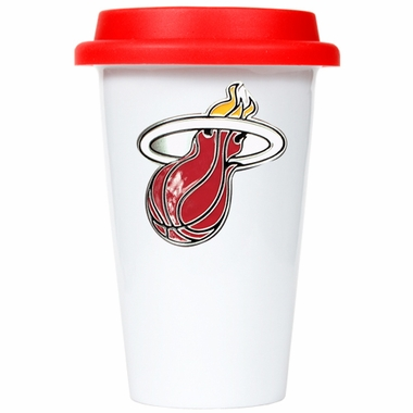 Miami Heat Ceramic Travel Cup (Team Color Lid)