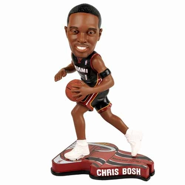 Miami Heat Chris Bosh 2013 Pennant Base Bobblehead Figurine