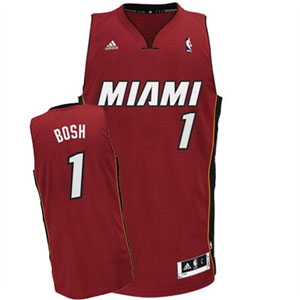 Miami Heat Chris Bosh Team Color Swingman Replica Jersey - Medium
