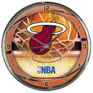 Miami Heat Chrome Clock