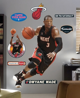 Miami Heat Dwyane Wade Fathead Wall Graphic