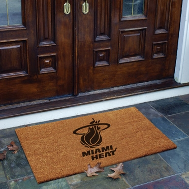 Miami Heat Flocked Coir Doormat