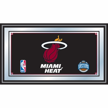 Miami Heat Framed Logo Bar Mirror