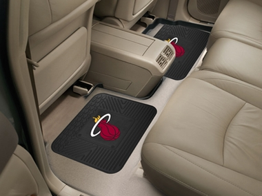 Miami Heat SET OF 2 Heavy Duty Vinyl Rear Car Mats